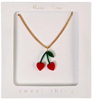 Cherry Charm Necklace-50-0050
