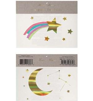 Rainbow Shooting Star Tattoos-45-2267