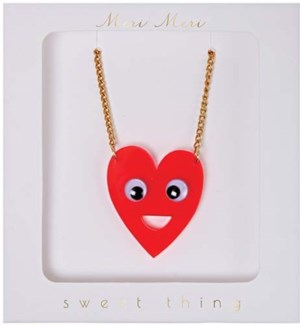 Heart With Eyes Necklace-50-0104