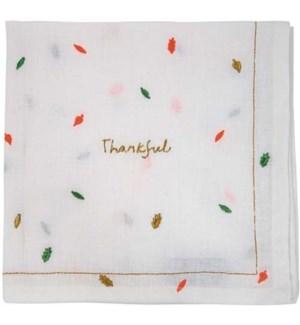 Thankful Embroidered Napkin-45-2435