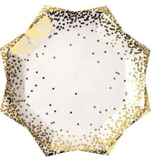 Gold Confetti Large Plate-45-2448
