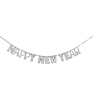 Silver New Year Garland-45-2492