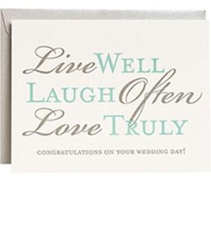 Live Well, Laugh Often Ltps Wedding A2 Single Card