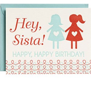 Hey Sista Happy Birthday Ltps A2 Single Card