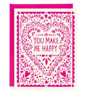 Paper Cut Heart Make Me Happy Ltps A2