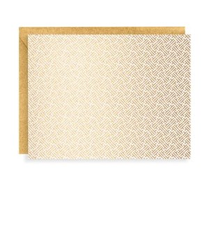 Moroccan Tile Gold On White A2 Note