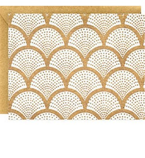 Scallop Gold On White A2 Note