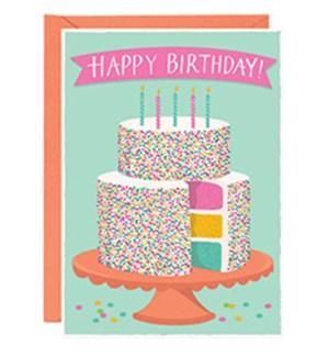 Birthday Cake A6 Single Card
