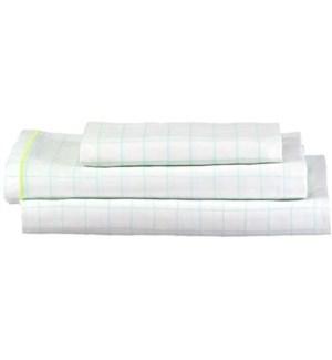 Mint Grid Twin Sheet Set -30-0036