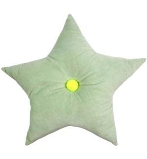 Velvet Star Cushion Mint-30-0053