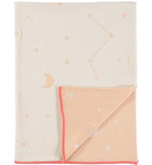 Pink Constellation Knitted Blanket-30-0060