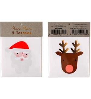 Santa Reindeer Tattoos-45-2986