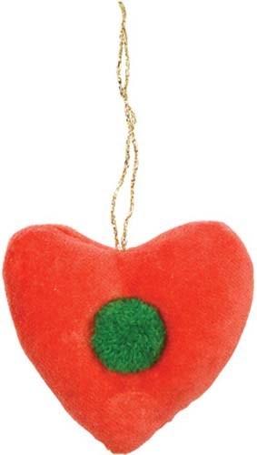 Velvet Heart Decoration-60-0056