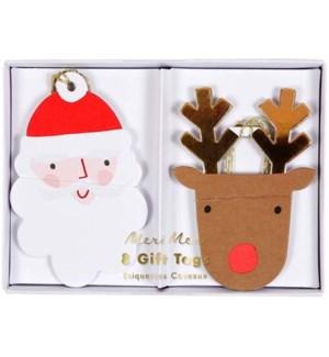 Santa & Reindeer Gift Tags-65-0190