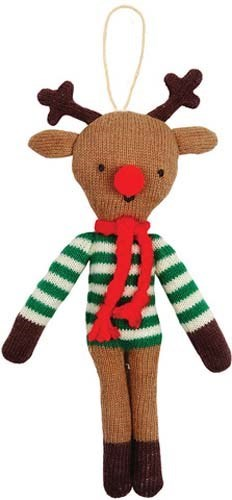 Reindeer Knitted Ornament-60-0060