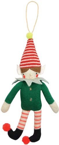 Elf Knitted Ornament-60-0067