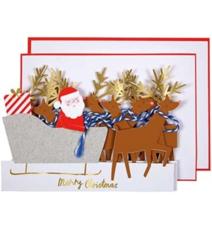 Concertina Reindeer Card-42-0081