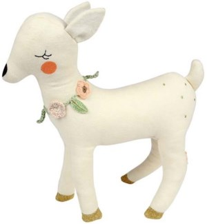 Knitted Deer Cushion-30-0129
