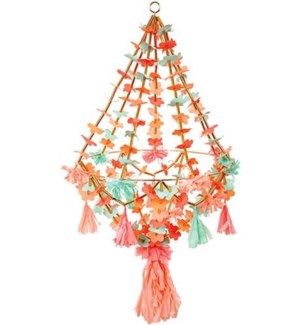 Large Fabric/Paper Chandelier-30-0225