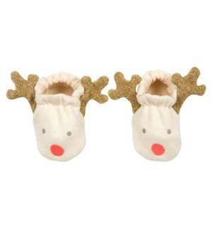 Reindeer Baby Booties