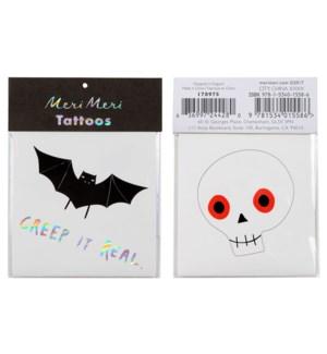 Skull & Bat Tattoos