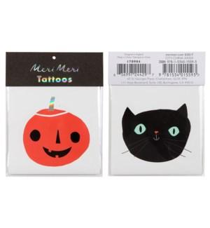 Cat & Pumpkin Tattoos