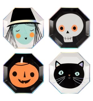 Halloween Characters Plates Large