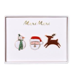 Christmas Character Enamel Pins