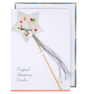 Shaker Star Wand Card