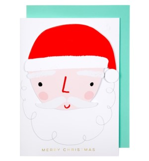 Santa Tissue Fan Card