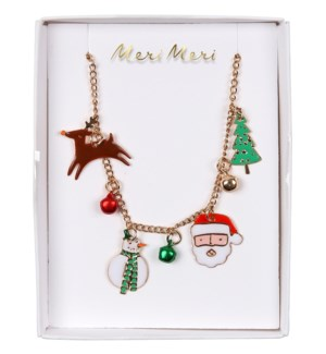 Christmas Enamel Necklace