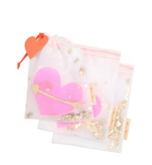 Heart Shaker Gift Bags S/3-45-4329