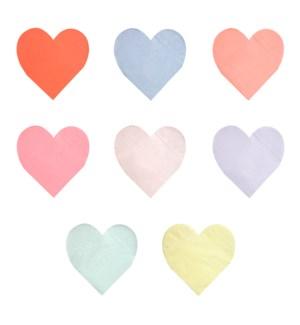 Pastel Palette Heart Large Napkins-45-4334