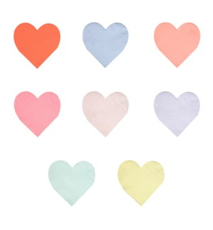 Pastel Palette  Heart Small Napkins-45-4335 - avail mid July