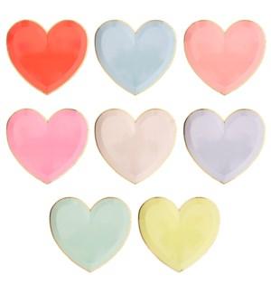Pastel Palette Heart Large Plates-45-4336