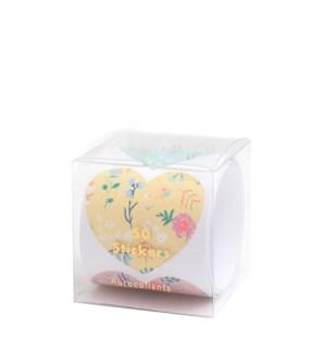Wildflower Heart Sticker Roll-45-4343