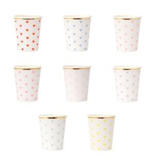 Pastel Palette Heart Cups S/8-45-4360