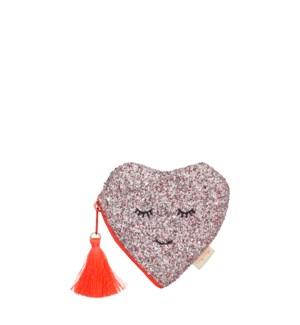 Glitter Heart Coin Purse-45-4373