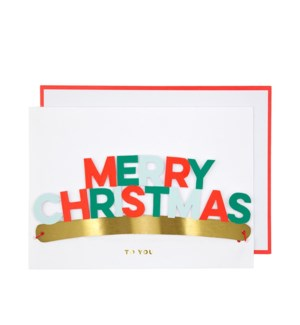 Merry Christmas Crown Card
