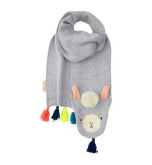 Knitted Llama Scarf