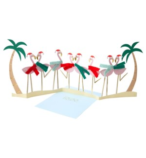 Festive Flamingo Card