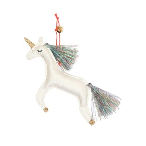 Unicorn Glitter Fabric Tree Decoration