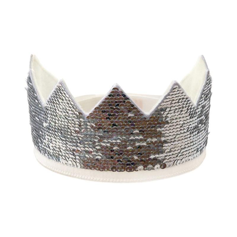 Iridescent Sequin Party Crown
