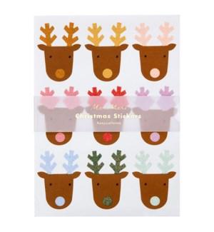 Glitter Reindeer Sticker Sheets