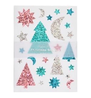 Glitter Festive Icons Sticker Sheets