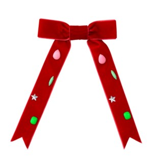 Red Bow Small Hair Clip Barrette