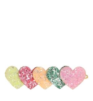 Heart Glitter Hair Clip