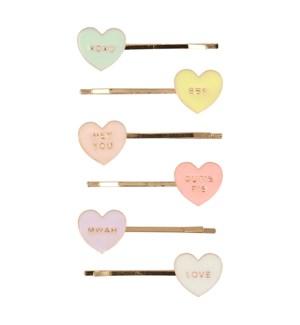 Love Hearts Enamel Hair Slides