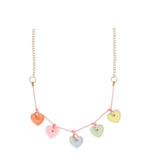 Enamel Hearts Necklace