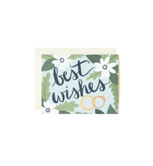 Best Wishes Blue 4.25x5.5|Z